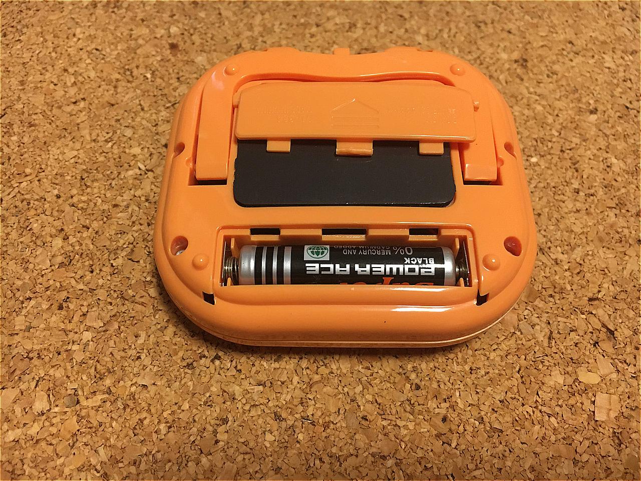 キッチンタイマーTD384-OR電池