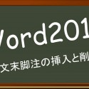 Word2010 文末脚注の挿入と削除