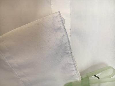 西友のスーツによる色落ち袖