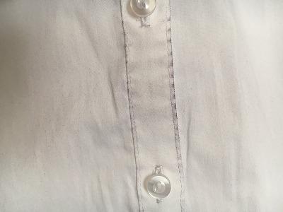 西友のスーツによる色落ち前身ごろ アップ2